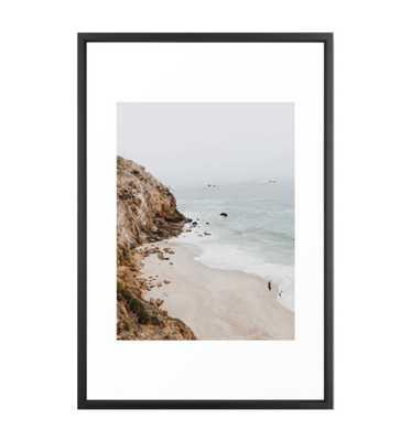malibu coast / california Framed Art Print - 26x38 - Society6