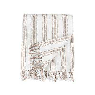 Jarrell Stripe Cotton Throw - Wayfair