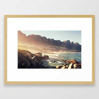 "Cape Town Sunrise Framed Art Print 20 x 26"" - Society6"