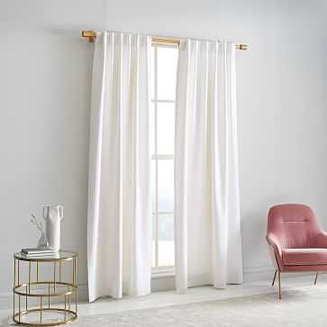 "Washed Cotton Canvas Curtain, Set of 2, 48""x96"", White - West Elm"