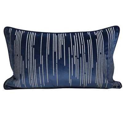 Zabala Embroidered Velvet Lumbar Pillow Cover - Wayfair
