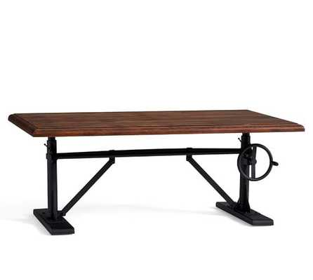 Pittsburgh Crank Coffee Table, Vintage Chestnut - Pottery Barn