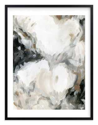 Mesmerize in Charcoal 40''x54'', white border - Minted