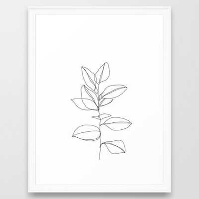 One line plant illustration - Scoop White, 20 x 26 - Society6