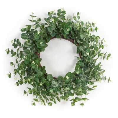 """Eucalyptus 28"""" Wreath - Wayfair"""