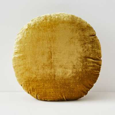 Round Lush Velvet Pillow - West Elm