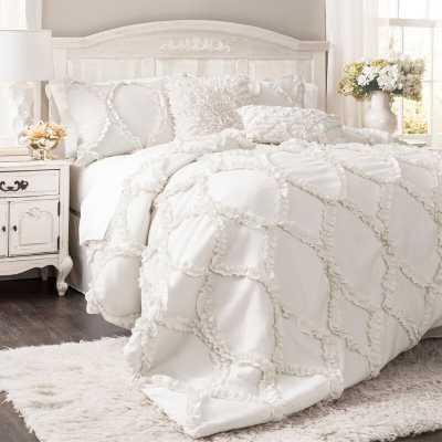 Erion Comforter Set - KING in WHITE - Wayfair