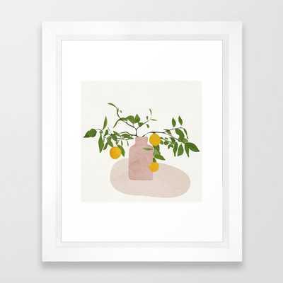 Lemon Branches Framed Art Print - Society6