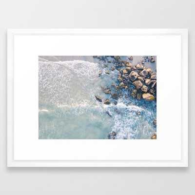 """Beach Framed Art Print - 26x20"""" - Vector White Frame - Society6"""