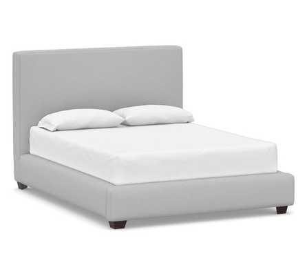Big Sur Upholstered Bed, King, Brushed Crossweave Light Gray - Pottery Barn