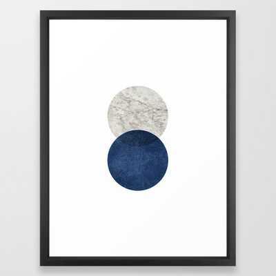 Marble blue navy circle Framed Art Print by MoonlightPrint - Society6
