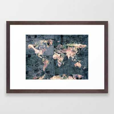 world map Framed Art Print - Society6