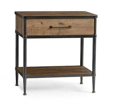 Juno Nightstand, Dark Bronze, Neutral - Pottery Barn