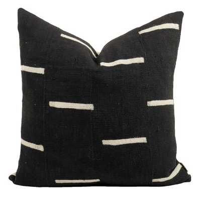 RAINEY ONE OF A KIND MUDCLOTH PILLOW, BLACK - Lulu and Georgia