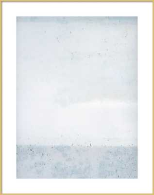 "Overast Soft Blues - 28"" x 36"", contemporary frost gold frame - Artfully Walls"