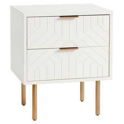 Jennings Statement Nightstand, Simply White, UPS - Pottery Barn Teen