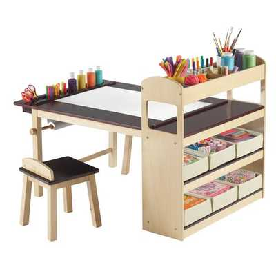 Emilio Kids 3 Piece Arts and Crafts Table and Stool Set - AllModern