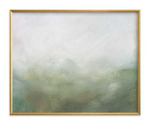 Morning Mist Art Print 20x16, standard, gilded wood frame - Minted