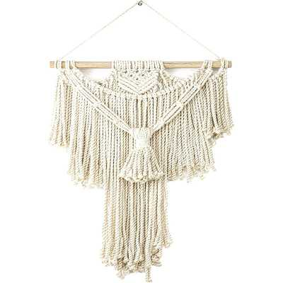Cotton Macrame Wall Hanging with Rod Included - Wayfair