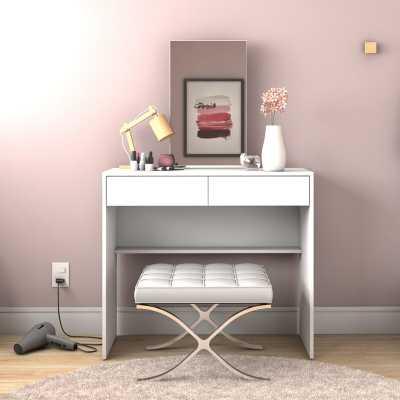 Heathcote 2 Drawer Vanity with Mirror - AllModern