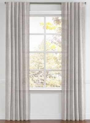 "Back Tab Drapery Linen Sheer - Dim Gray - Custom size 40""w x 176"" Long (Set of 2 panels) - Loom Decor"