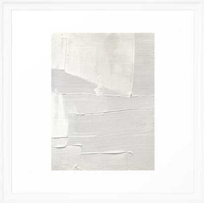 Relief [2]: an abstract, textured piece in white by Alyssa Hamilton Art Framed Art Print - Society6