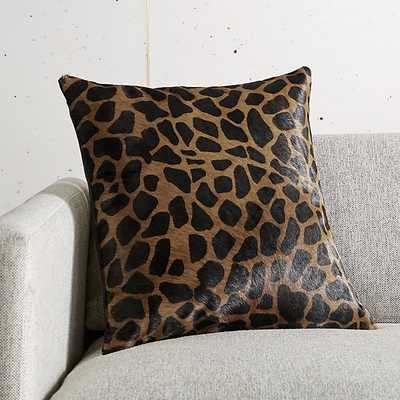 "16"" MASAI ANIMAL PRINT PILLOW WITH DOWN-ALTERNATIVE INSERT - CB2"