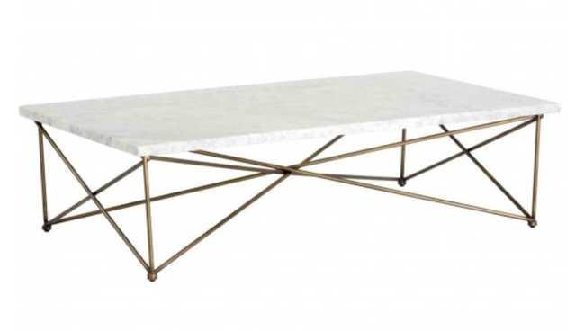 Skyy Coffee Table, White - High Fashion Home