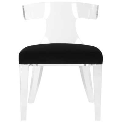 RHYS LUCITE UPHOLSTERED DINING CHAIR - Perigold