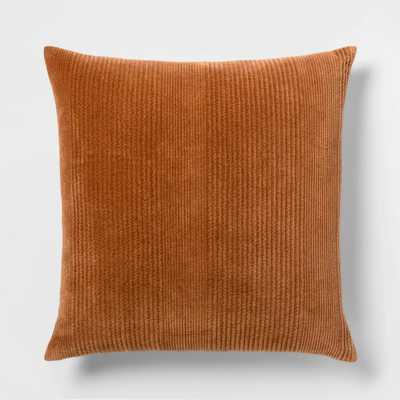 Quilted Washed Velvet Oversize Square Pillow - Threshold™ - Target