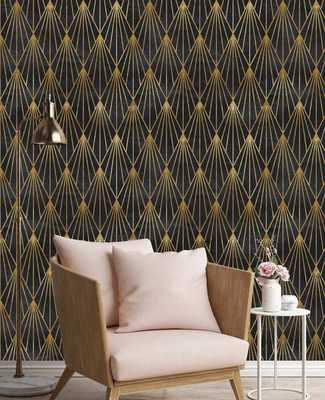 """Cote Removable Gatsby 6.25' L x 25"""" W Peel and Stick Wallpaper Roll - Wayfair"""