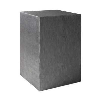Square Feathers Pucci Table Arbor Gray Color: Gray - Perigold