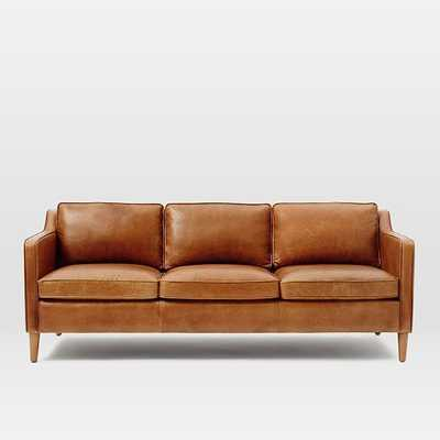 "Hamilton Leather Sofa (81""), Leather, Sienna - West Elm"