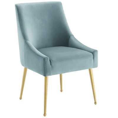 Vella Velvet Upholstered Side Chair - Light Blue - Wayfair
