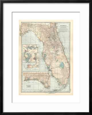 Plate 81. Map of Florida. United States. Inset Maps of Jacksonville - art.com