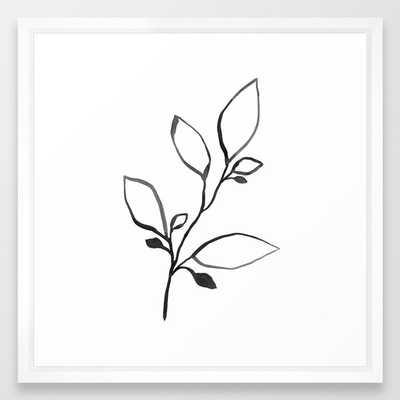 Black Ink Botanical Line Art - Plant 1 Framed Art Print - Society6