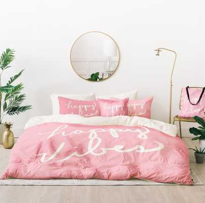 HAPPY VIBES BLUSHLY Bed In A Bag By Lisa Argyropoulos - Wander Print Co.