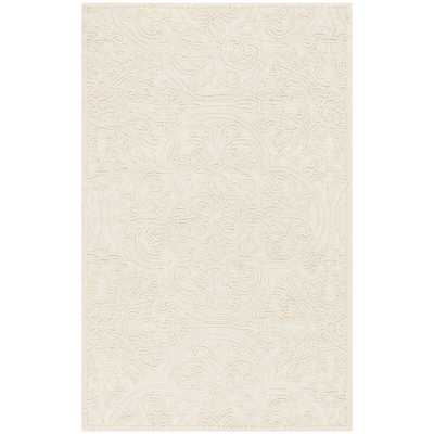 Marys Rustic Hand-Tufted Wool Ivory Area Rug - Wayfair