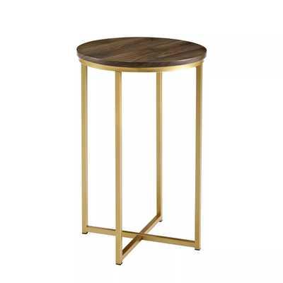 "Saracina Home 16"" Round Side Table walnut - Target"