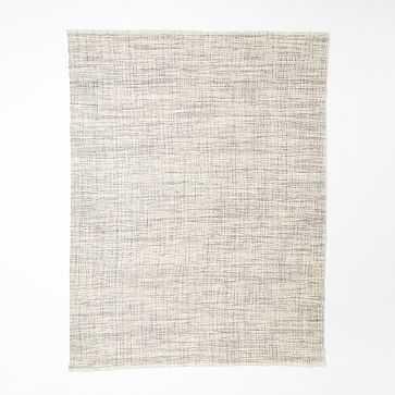 Heathered Basketweave Wool Rug, 9'x12', Steel - West Elm