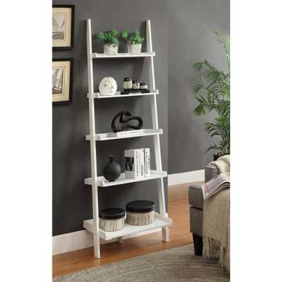 French Country White 5 Shelf Bookcase - Home Depot