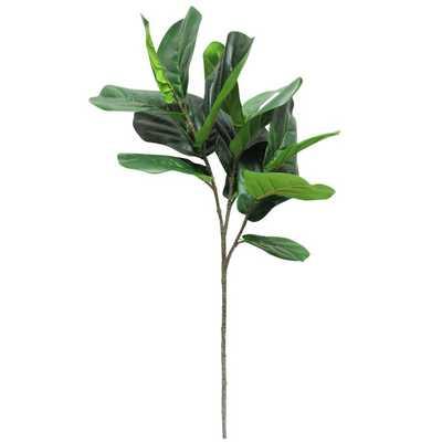Fiddle Fig Leaf Foliage Branch - Wayfair
