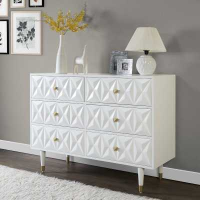 Morley 6 Drawer Double Dresser - Wayfair