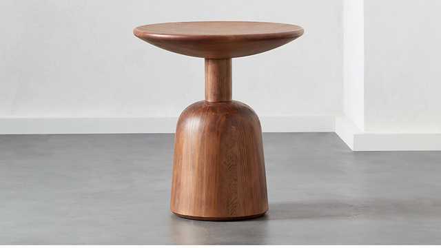 macbeth hemlock wood side table - CB2