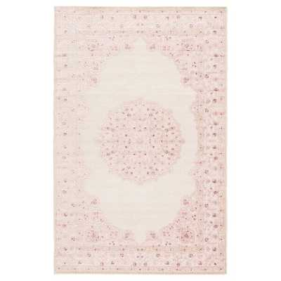 Fontanne Pink/White Area Rug - - Wayfair