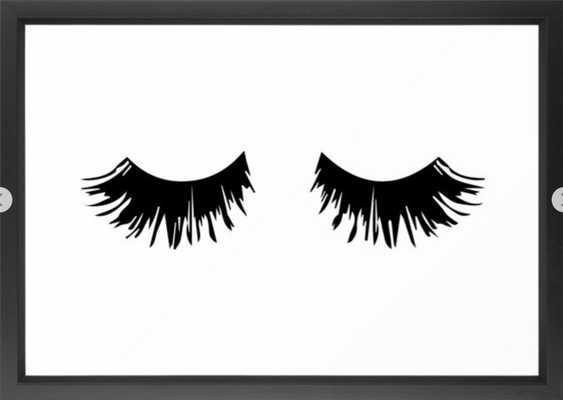 Eyelash Print Framed Art Print 15 x 21 - Society6