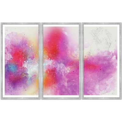 COLORFUL ABSTRACT SPLATTER' FRAMED PRINT MULTI-PIECE IMAGE - Perigold