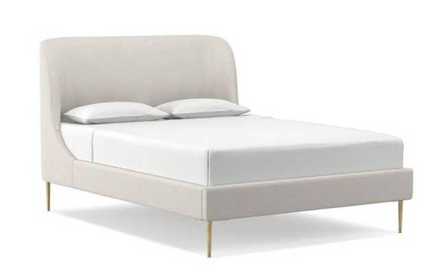 Lana Upholstered Bed, King, Twill, Wheat - West Elm
