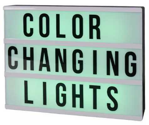 Color Changing Lightbox Novelty LED Table Lamp Black - Target