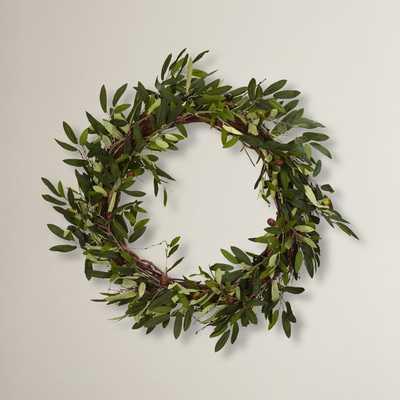 "20"" Faux Olive Branch Wreath - Wayfair"